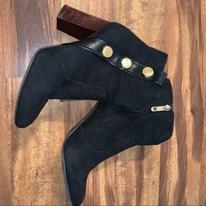 Tommy Hilfiger suede black ankle boots